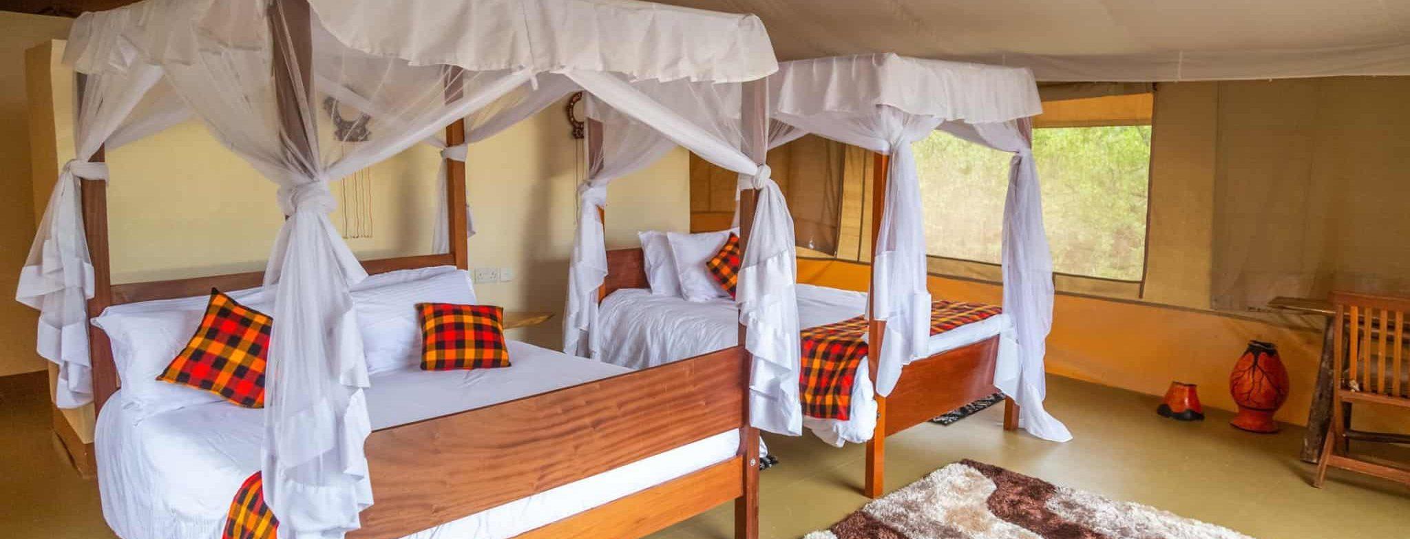 guests stay at Enkorok Mara camp while on our Kenya and Tanzania circuit safari