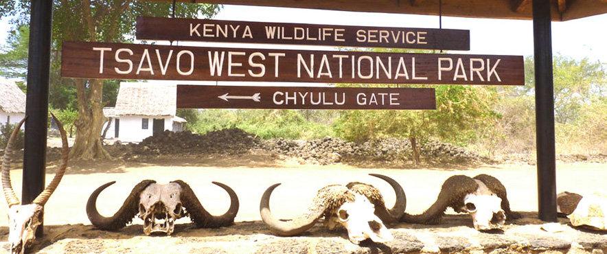 tsavo west national park, chyulu hills gate
